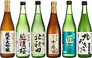 日本酒コンテスト 金賞受賞酒 飲み比べ6本セット 720ml×6本 [ 日本酒 720mlx6本 ]