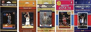 NBA 华盛顿奇才队 5 种不同的*收藏卡队套装,棕色,均码