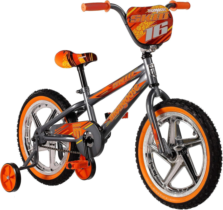 Mongoose Skid Boy's Freestyle BMX Training Ranking TOP3 16- Wheels Same day shipping Bike with