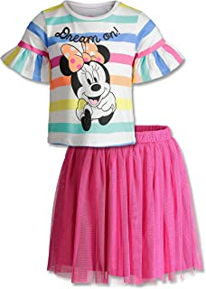 Dinsey Minnie Mouse Girls' Fashion T-Shirt & Tulle Skirt Set
