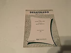 DESAFINADO SHEET MUSIC SLIGHTLY OUT OF TUNE