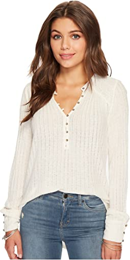 Lucky Brand - Embroidered Henley