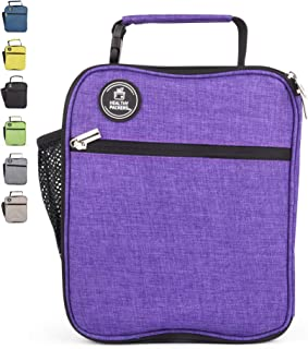Insulated Lunch Box for Adults and Kids - Professional Work Lunch Bag for Men and Women - Spacious and Heavy Duty School Lunchbox for Boys and Girls (Purple)