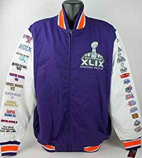 Super Bowl XLIX Arizona 02.01.15 NFL Patch Jacket Mens Size XL