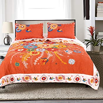 Barefoot Bungalow Topanga Quilt Set, 3-Piece Full/Queen, Multi