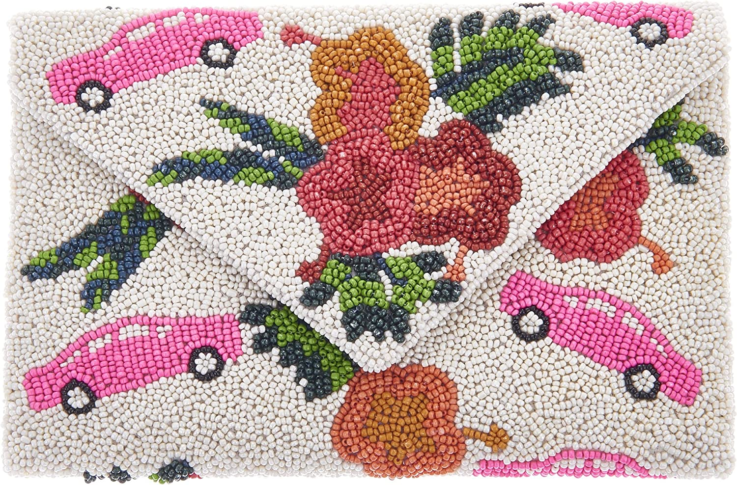 From St Xavier Cuba Beaded Clutch Crossbody, Multi