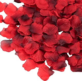 Supla 3000 Pcs Silk Rose Petals Fabric Petals in Dark Red 2
