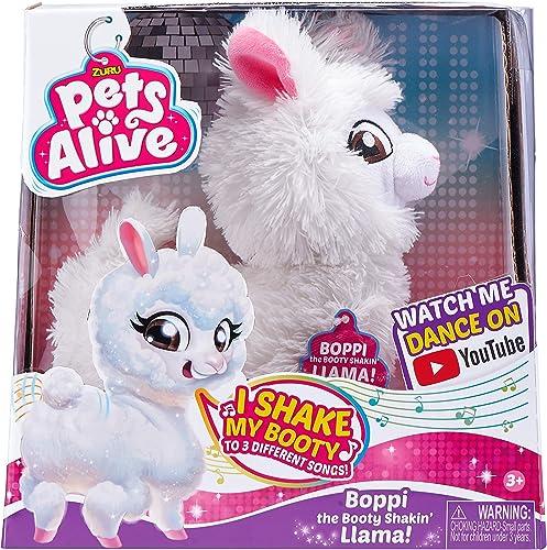 Pets Alive- BOPPI Le Lama Peluche A Fonction, 9515, Blanc