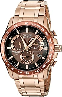 Citizen Mens Eco-Drive Rose Goldtone Perpetual Chrono A-T Watch