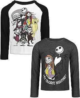 Disney Nightmare Before Christmas Girls 2 Pack Long Sleeve Graphic T-Shirts