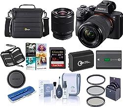 Sony Alpha a7 III 24MP UHD 4K Mirrorless Camera with 28-70mm Lens - Bundle 32GB SDHC U3 Card, Camera Case, 55mm Filter Kit...