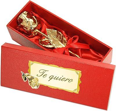 Geschenke mit Namen Gifts with Names, Gold, 28 cm