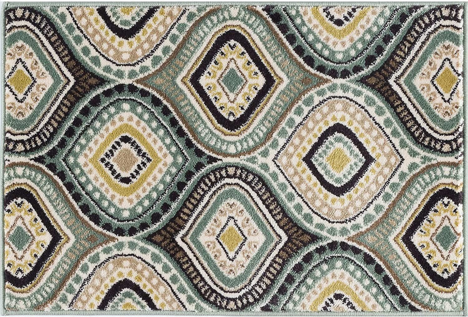 Aurora Contemporary Max 62% OFF Abstract Seafoam Scatter x 3' Rug Super beauty product restock quality top! 2' Mat