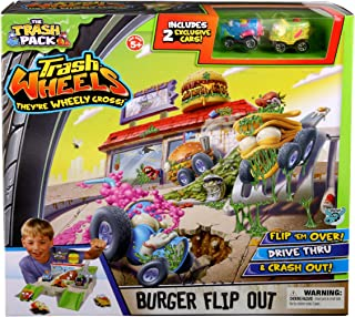 Trash Pack Wheels Burger Flip Out Playset