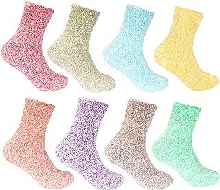 Women's Fuzzy Cozy Warm Feather Soft Socks - 4/8 Pair Value Packs