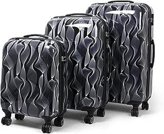 MASTERGEAR 3 Diseño maleta | 4 rodillos (360 grados) | Carro, maletas, estuche rígido, ABS, cerradura de combinación, apilable | S, M, L | negro / blanco