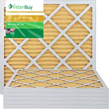 FilterBuy 20x21x1 MERV 11 Pleated AC Furnace Air Filter, (Pack of 6 Filters), 20x21x1 – Gold