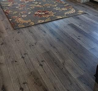 Turtle Bay Floors Waterproof Click WPC Flooring - Wirebrushed European Oak Floating Flooring: 3-Colors (Sample, Mountain)