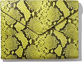 Sonix Snakeskin Leather Laptop Case Padded Envelope Sleeve for MacBook, Notebooks, Laptops (13 inch, Green Python Leather)