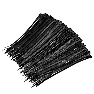 Amazon Basics Multi-Purpose Cable Ties - 8-Inch/200mm, 1000-Piece, Black