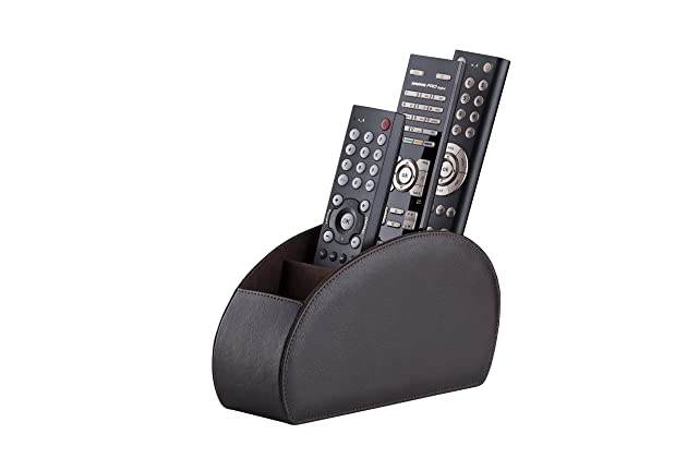 Brown Tv Remote Caddy Organizer Bright Remote Control Holder By Connected Essentials Home & Garden