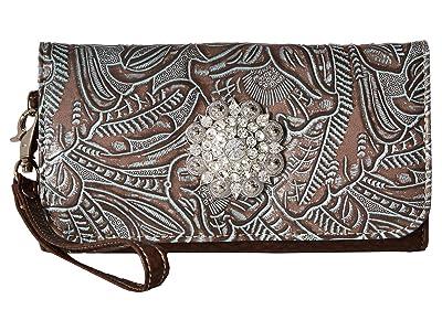 M&F Western Myra Wallet (Brown) Wallet Handbags