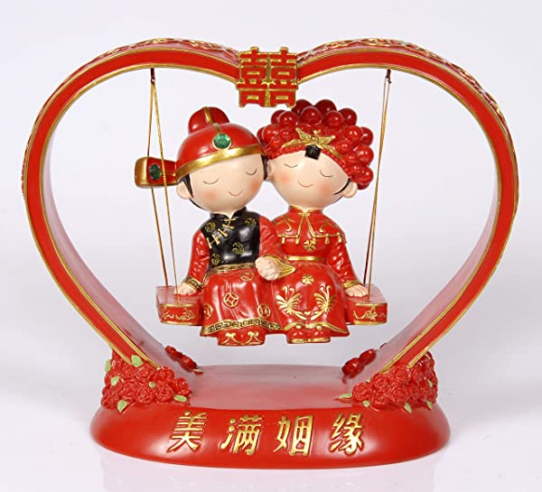 Aveena Wedding Decorations Newly Married Couples Statue The Bride And The Bridegroom Figurine To Newly Married Couples Wedding Room Decoration Chinese Handicraft