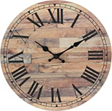 Best distressed wooden wall clocks Reviews