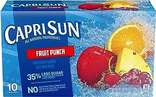 Capri Sun Fruit Punch Flavored Juice Drink Blend, 10 ct - Pouches, 60.0 fl oz Box