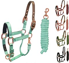 Derby Originals Desert Rose Collection Safety Reflective Breakaway Halter with Matching Poly Lead Rope
