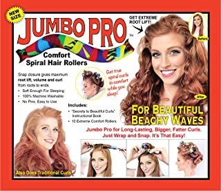 Jumbo Pro hair curlers from Wrap Snap Go