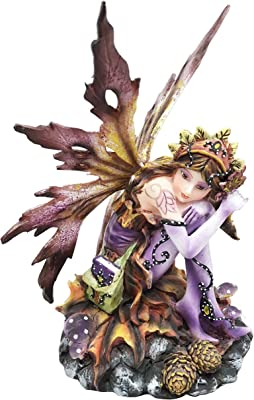 George S. Chen Imports Purple Fairy Sitting Collectible Figurine Decoration Statue Décor
