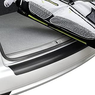 [in.tec] Adaptación perfecta Protección parachoques trasero acero - película de protección pintura - fibra de carbono - (112,5x13,5cm) - autoadhesivo