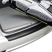 [in.tec] Adaptación perfecta Protección parachoques trasero acero - película de protección pintura - fibra de carbono - (112,5x15cm) - autoadhesivo