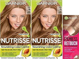 Garnier Nutrisse and Express Retouch Kit, Dark Natural Blonde, Express Retouch Dark Blonde, 3 count
