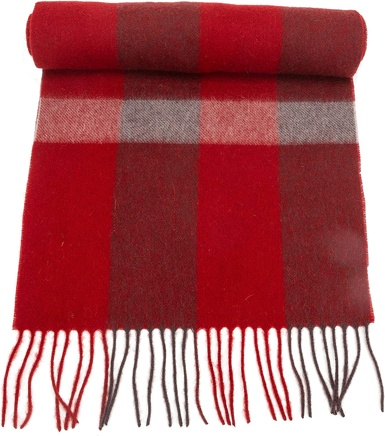 100% Virgin Wool Scarf for Women, Solids, Plaids, Warm Soft Luxurious by CANDOR AND CLASS