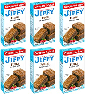 Jiffy Fudge Brownie Mix, 8 Ounce Boxes (Pack of 6)