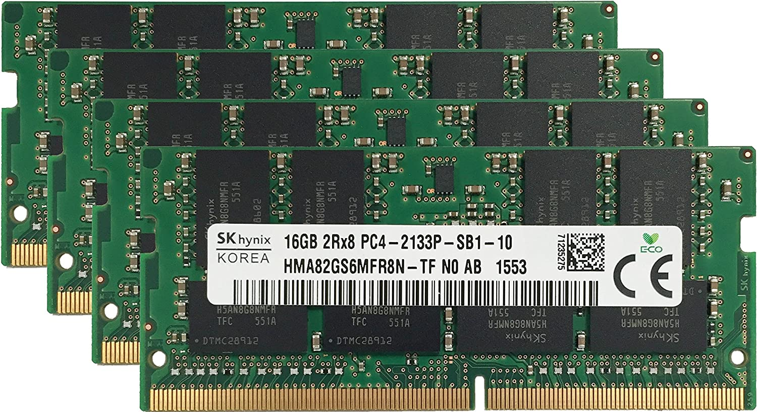 Hynix Original 64GB Quality inspection 4x16GB Laptop Compatible fo Memory Upgrade Free Shipping New