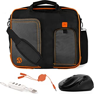 VanGoddy Pindar Orange Trim Laptop Bag w/Accessories for Samsung ChromeBook/Galaxy Book/