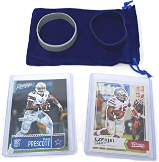 Dak Prescott & Ezekiel Elliot Rookie Cards Assorted 2 Bundle. 1 Each - Dallas Cowboys Football Trading Cards - Both 2016 RCs