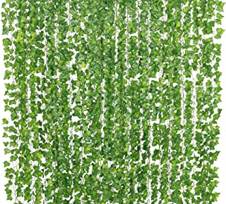Yatim 78-Ft 12 Pack Artificial Plants Greeny Chain Wall Hanging Leaves for Home Room Garden Wedding Garland Outside Decora...
