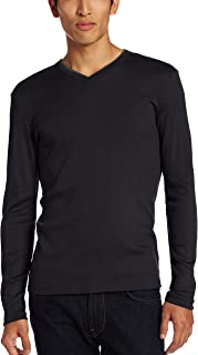 Calvin Klein Men's Long Sleeve Rib Knit T-Shirt
