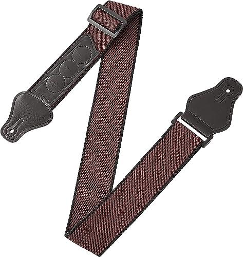 Amazon Basics Sangle de guitare ajustable en coton pour guitare électrique/acoustique/basse Comprend 3 emplacements p...