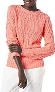 Amazon Essentials Women's 100% Cotton Crew Neck Cable Sweater