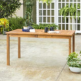 WE Furniture AZWSDTBR Outdoor Dining Table, 60