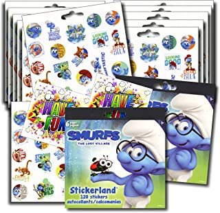 SMURFS Stickers Party Favors - Bundle of 12 Sheets 240+ Stickers plus 2 Specialty Stickers!