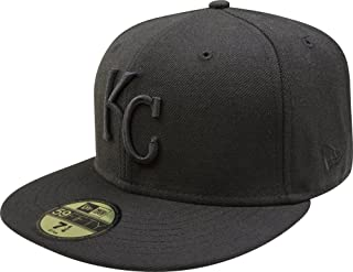 MLB Kansas City Royals Black on Black 59FIFTY Fitted Cap