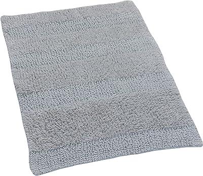 Castle Hill Wide Cut Reversible Bath Rug, 20 by 30-Inch, Silver