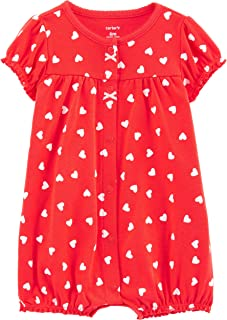 Carters Baby Girls Polka Dot Heart Print Romper