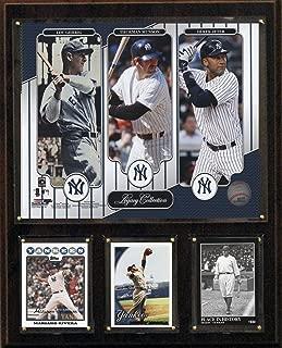 MLBニューヨークヤンキースjeter-gehrig-munson LegacyコレクションPlaque、12x 15インチ